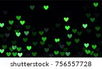 beautiful confetti hearts... | Shutterstock .eps vector #756557728