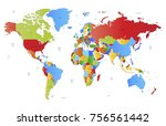 color world map vector | Shutterstock .eps vector #756561442