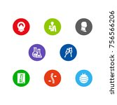 set of 8 medical icons set... | Shutterstock .eps vector #756566206