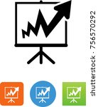 off the charts icon | Shutterstock .eps vector #756570292