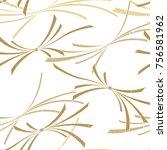 gold japanese ribbon pattern... | Shutterstock .eps vector #756581962