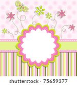 template greeting card  vector... | Shutterstock .eps vector #75659377