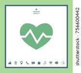 heart medical icon   Shutterstock .eps vector #756600442