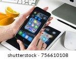 sankt petersburg  russia ... | Shutterstock . vector #756610108