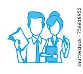 business couple teamwork | Shutterstock .eps vector #756618952