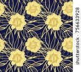 decorative seamless pattern... | Shutterstock . vector #756633928