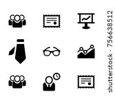 business vector icon collection ... | Shutterstock .eps vector #756638512