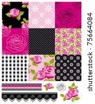 Patchwork Floral Rose Pattern...