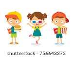 set of kids | Shutterstock .eps vector #756643372