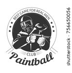 paintball sport club with best... | Shutterstock .eps vector #756650056