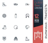 sport vector collection icon set | Shutterstock .eps vector #756652276