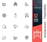 sport vector collection icon set | Shutterstock .eps vector #756653002