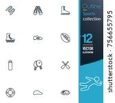 sport vector collection icon set   Shutterstock .eps vector #756655795
