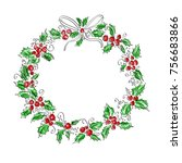 merry christmas and happy new...   Shutterstock . vector #756683866