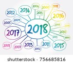 2018 happy new year and... | Shutterstock .eps vector #756685816