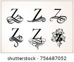 vintage set  capital letter z