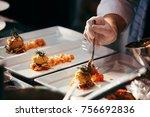 chef preparing food  meal  in... | Shutterstock . vector #756692836