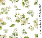 watercolor seamless pattern of... | Shutterstock . vector #756694288