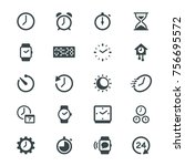 time and clock glyph icons | Shutterstock .eps vector #756695572