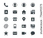contact glyph icons | Shutterstock .eps vector #756695575