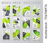 mega pack brochure design... | Shutterstock .eps vector #756708976