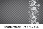 blizzard snowflakes on... | Shutterstock .eps vector #756712516