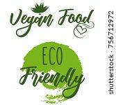 set of eco friendly green set... | Shutterstock .eps vector #756712972