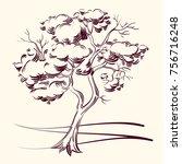 vector illustrarion of the tree....   Shutterstock .eps vector #756716248