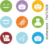 origami corner style icon set   ... | Shutterstock .eps vector #756717628