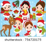 vector christmas and new year... | Shutterstock .eps vector #756720175