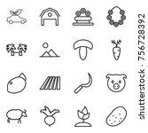 thin line icon set   eco car ...   Shutterstock .eps vector #756728392