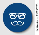 mustache and glasses sign.... | Shutterstock .eps vector #756730735