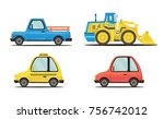a set of machines made in a... | Shutterstock .eps vector #756742012