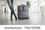 passenger waiting  at the... | Shutterstock . vector #756745306