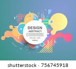 abstract geometric pattern... | Shutterstock .eps vector #756745918