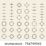 a huge rosette wicker border... | Shutterstock .eps vector #756749542