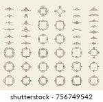 a huge rosette wicker border... | Shutterstock .eps vector #756749542