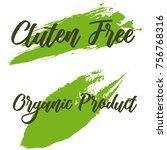 set of eco friendly green set... | Shutterstock .eps vector #756768316