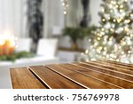 a nice christmas tree with a... | Shutterstock . vector #756769978