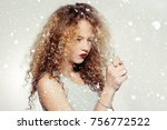 youth and beauty concept  ... | Shutterstock . vector #756772522
