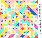 abstract 1980 memphis geometric ...   Shutterstock .eps vector #756772822