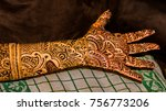 palm of hand  fingers and...   Shutterstock . vector #756773206