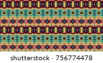 horizontal seamless pattern... | Shutterstock .eps vector #756774478