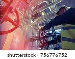 industrial factory worker...   Shutterstock . vector #756776752