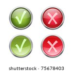set of vector accept and... | Shutterstock .eps vector #75678403