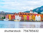 view of a historical wooden... | Shutterstock . vector #756785632