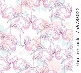 beautiful seamless vector... | Shutterstock .eps vector #756786022