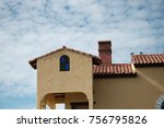 vintage luxury warm house with... | Shutterstock . vector #756795826