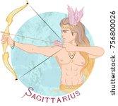 zodiac. vector illustration of... | Shutterstock .eps vector #756800026