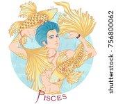 zodiac. vector illustration of... | Shutterstock .eps vector #756800062